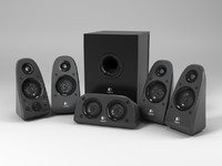 3d model logitech surround speakers z