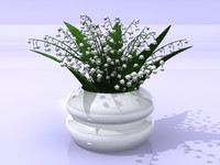 obj lily flowers