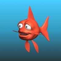 cartoon gold fish