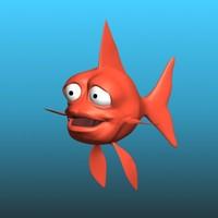 cartoon goldfish rig 3d max