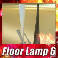 modern floor lamp - 3d model