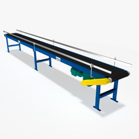 slider bed belt conveyor dxf