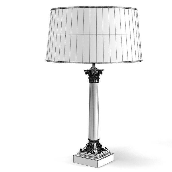 eichholtz vendome table 3d obj - Eichholtz Vendome table Lamp art deco classic... by archstyle