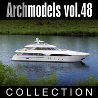 3d model archmodels vol 48 yachts