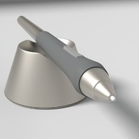 intuos wacom pen 3d model