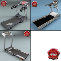 treadmills set modelled 3d model