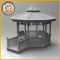3d gazebo pavillion model