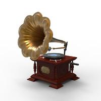 3ds antique gramophone