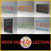 neon sign 3d max