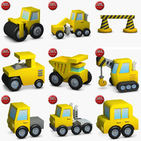 construction icons small pack 2 3d model