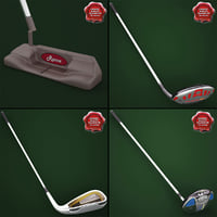 3d model of golf sticks v3