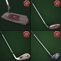 3d model of golf sticks v3
