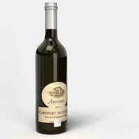 3ds max red wine bottle