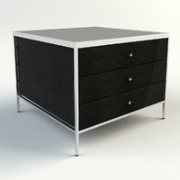 3ds max manning 3 drawer table