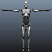 robot skeleton 3d obj