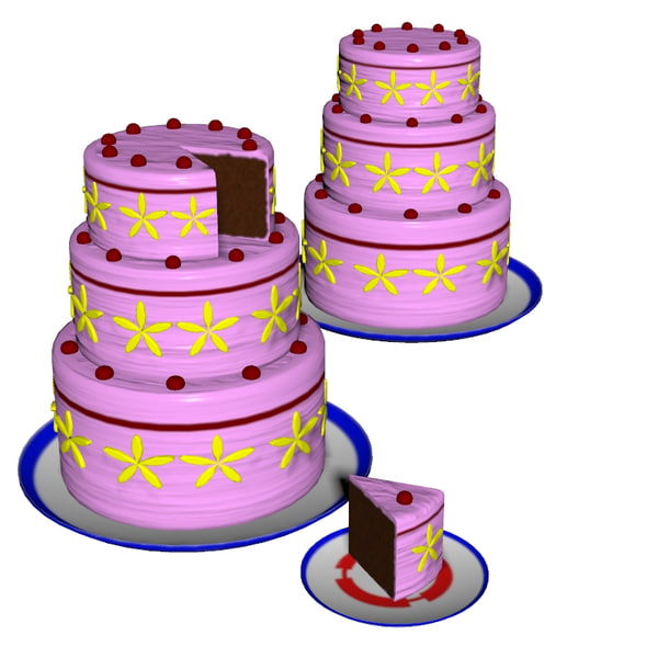 cake obj - 3 Layer Cake... by uncle808us
