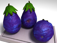 pear-like fruit 3d model
