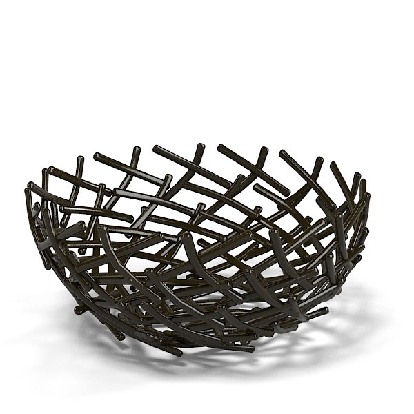 3d oxidized thatch bowl model