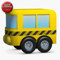 3d construction icons 24 bus model