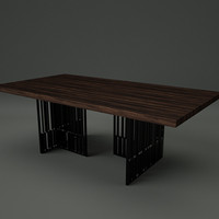 3d model table ready real-time