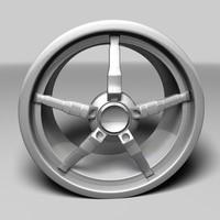 free alloy sport rim 3d model