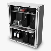 server cabinet 3d model