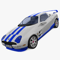 rigged sports car tomaso 3d max