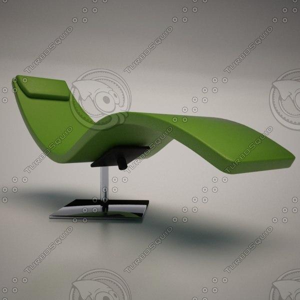 Cattelan italia casanova chaise lounge 3d model for Casanova chaise lounge
