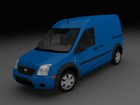 3d model of transit connect xlt