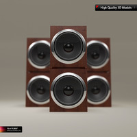 modern twin home speaker 3d ma