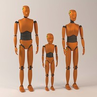3d car crash dummies