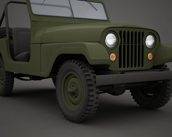 jeep military m38a1 3ds - Military Jeep M38A1... by bolegant