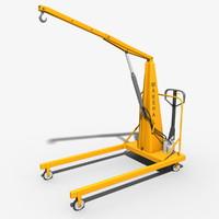 3dsmax hand operative crane
