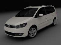 3d model of volkswagen touran 2011