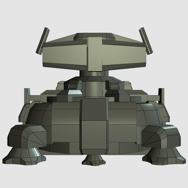 sci-fi turret 3d obj - Defense Turret... by MeshMagnet