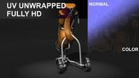 golf bag 3d model