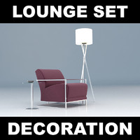 lounge furniture set 3d model