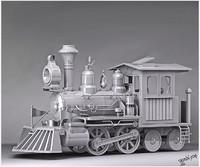 3d model classic train