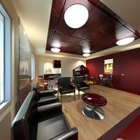 3d model doctors waiting room