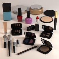 3ds max cosmetics set powders