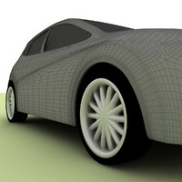 Seat Leon Low Poly MAX 2008