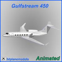 Gulfstream G450 Generic white