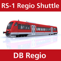 rs-1 regio shuttle passenger train 3d c4d