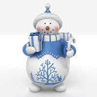 3d model of snow man snowman