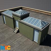 rooftop structure studios 3d max