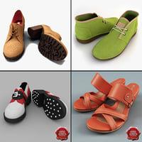 3d women shoe v8 model