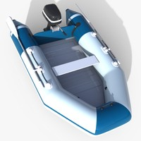 Zodiac Motor Boat - High Poly