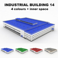 3d model of large industrial building 15
