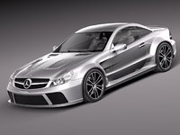 3d model mercedes amg black sl