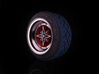 Techno Phantom rim stretched tyre Yokohama A032
